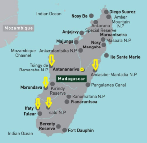 Madagaskar Karte Nationalparks.Madagascar Map Of National Parks